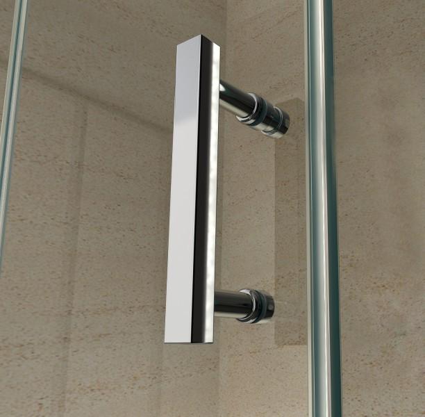 Duschkabine Eckdusche 8 mm Nano Echtglas EX416 - 100 x 100 x 195 cm inkl. Duschtasse zoom thumbnail 3