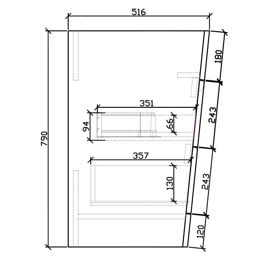 Badmöbel-Set Victoria 650D Basic in Eiche geweißt zoom thumbnail 6
