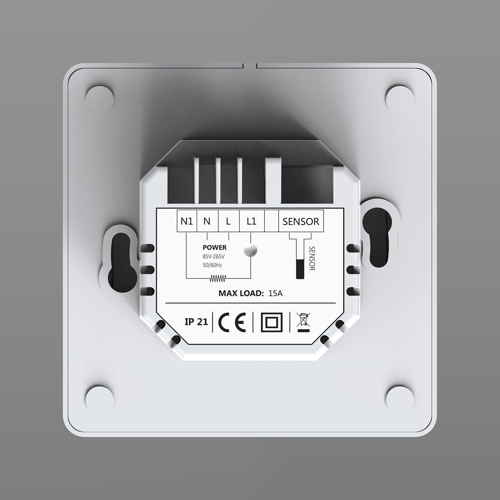 Thermostat ET61W White für elektrische Fußbodenheizung mit TWIN-Technologie - Steuerung über Smartphone zoom thumbnail 3