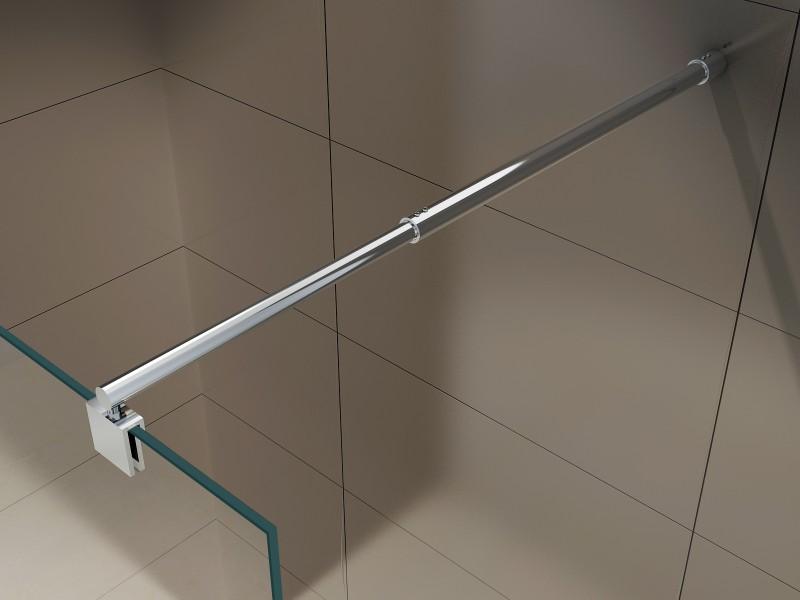 Duschabtrennung Walk-In Nano Echtglas EX101 - Spiegelmuster mittig - Breite wählbar zoom thumbnail 5