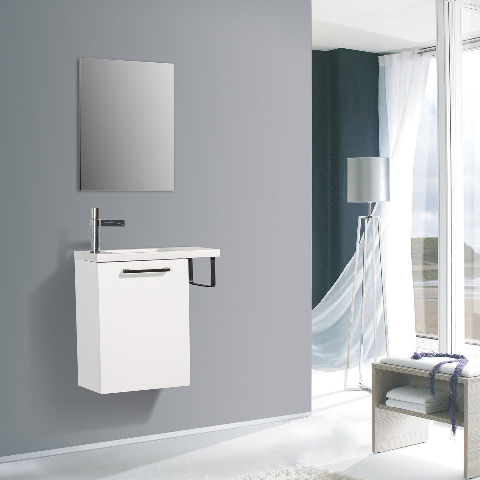 Badmöbel-Set TABLO 400 für Gäste-WC - Farbe wählbar - Spiegel optional