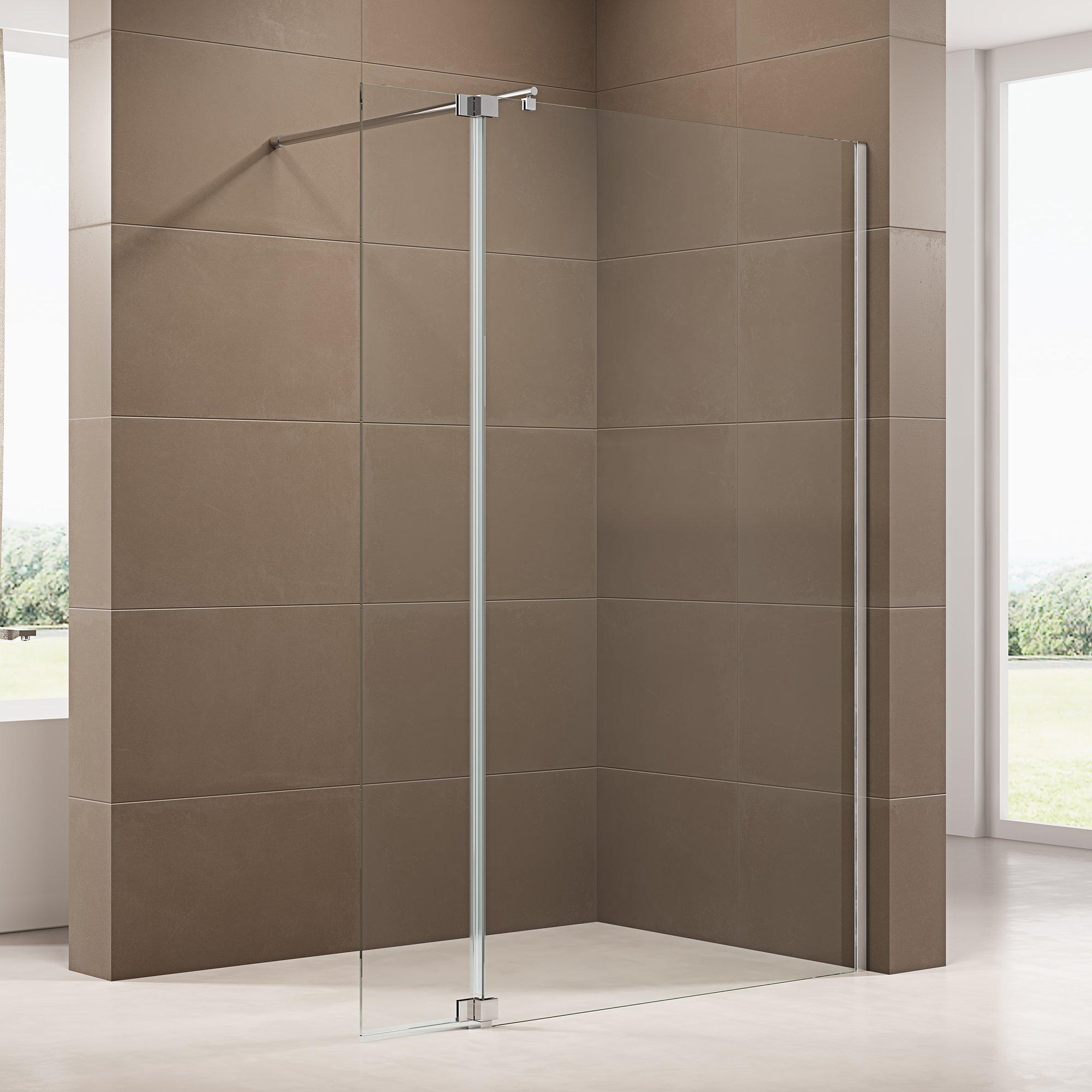 Duschabtrennung Walk-In-Dusche mit Spritzschutz NT109 8mm ESG-Glas