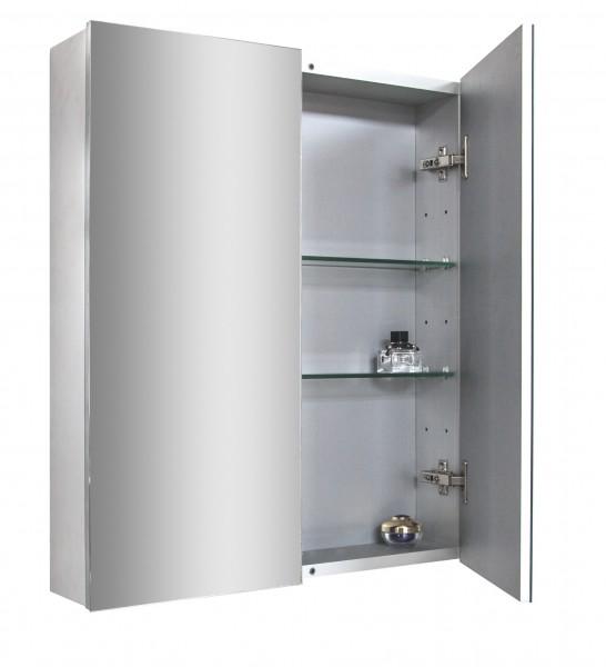 Spiegelschrank Multy BS60 aus Aluminium - Breite 60cm zoom thumbnail 4