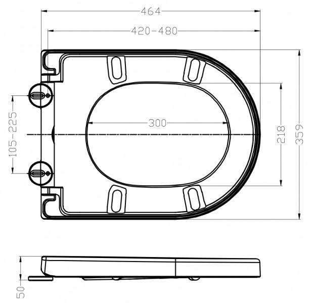 WC-Sitz WC-Deckel Softclose U1002 schwarz zoom thumbnail 4