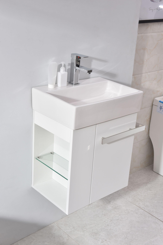Badmöbel-Set Compact 500 für Gäste-WC - Weiß matt zoom thumbnail 3