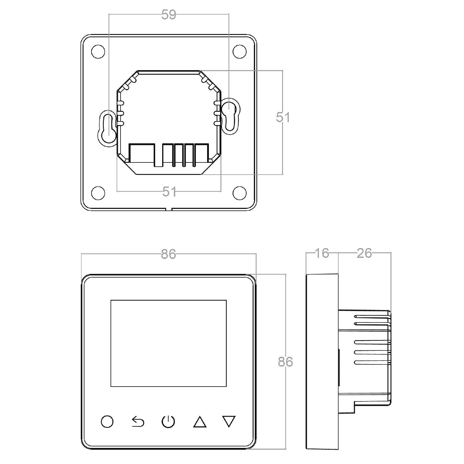 Raumthermostat ET81W für elektr. Fußbodenheizung mit TWIN-Technologie - Steuerung über Smartphone - Farbe wählbar zoom thumbnail 5