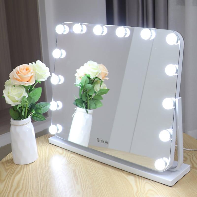 Hollywood Kosmetikspiegel Lichtspiegel R600 inkl. 14 LEDs - Farbe wählbar zoom thumbnail 4