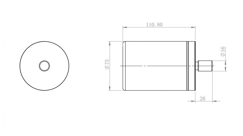 Zahnputzbecher / Kosmetikdose SDVZPB Design rund - Serie VERSA - chrom zoom thumbnail 4