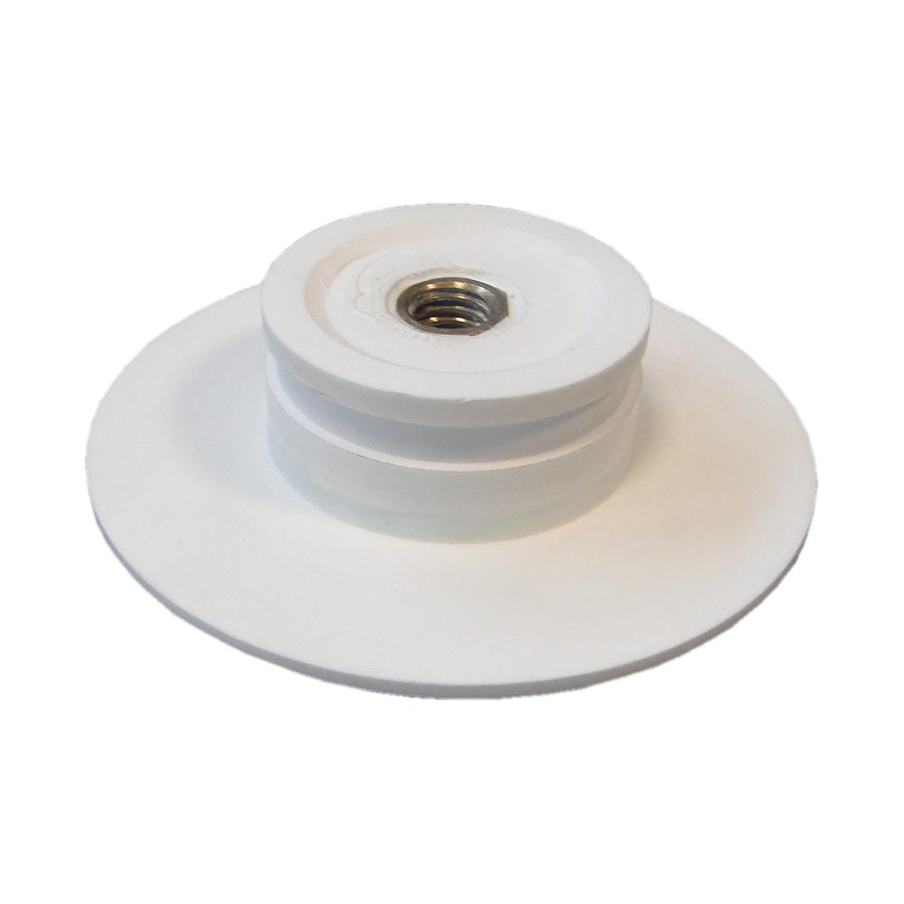 Waschbecken Pop-up Blende aus Mineralguss für Ablaufgarnitur - Farbe Weiß Matt