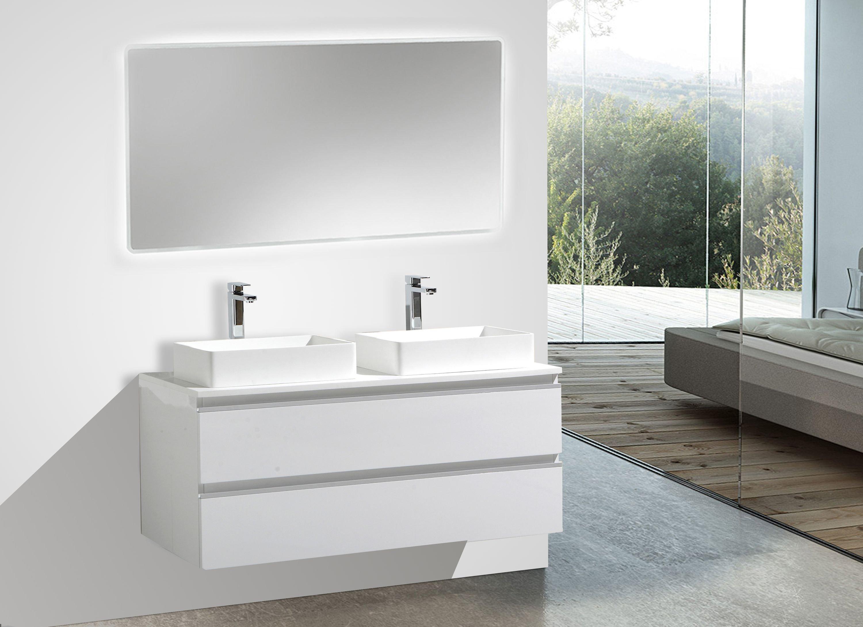 Badmöbel-Set DELIA 1200 in Weiß - Badspiegel optional