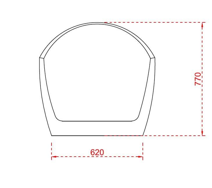 Freistehende Badewanne VICE Acryl Weiß - 183,5 x 78,5 cm - Oberfläche & Standarmatur wählbar zoom thumbnail 5
