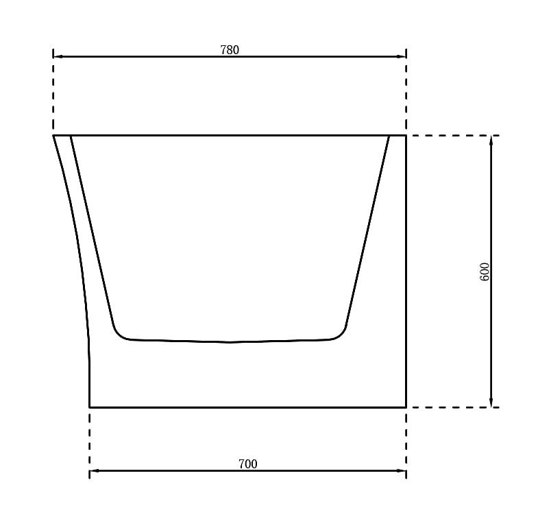 Freistehende Raumsparbadewanne NOVA CORNER Acryl Weiß - Einbau rechts - 170 x 78 cm - Oberfläche & Standarmatur wählbar zoom thumbnail 4