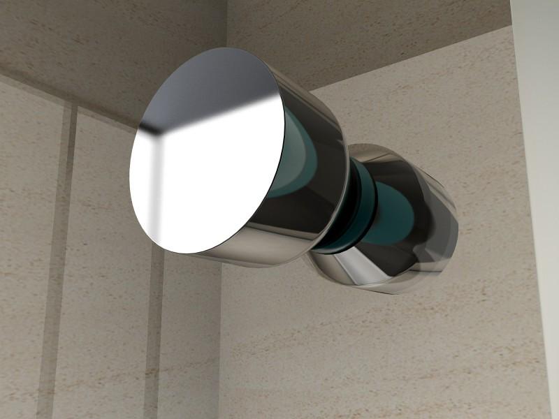 Duschkabine Eckeinstieg Falttür Nano 6 mm Echtglas EX213 - 90 x 90 x 195 cm zoom thumbnail 4