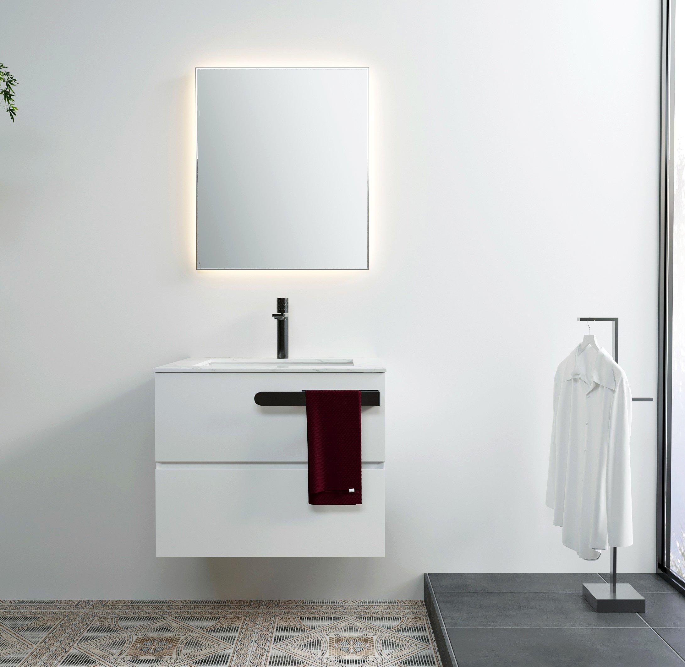 Selbstklebender Handtuchhalter HH35 Korpusmontage für Badmöbel - Farbe wählbar zoom thumbnail 4