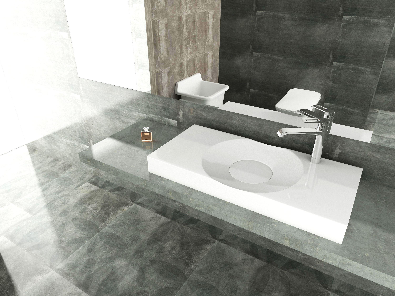 Wandwaschbecken Aufsatzwaschbecken BS6059 in Weiß - 100 x 48 x 10 cm  zoom thumbnail 6