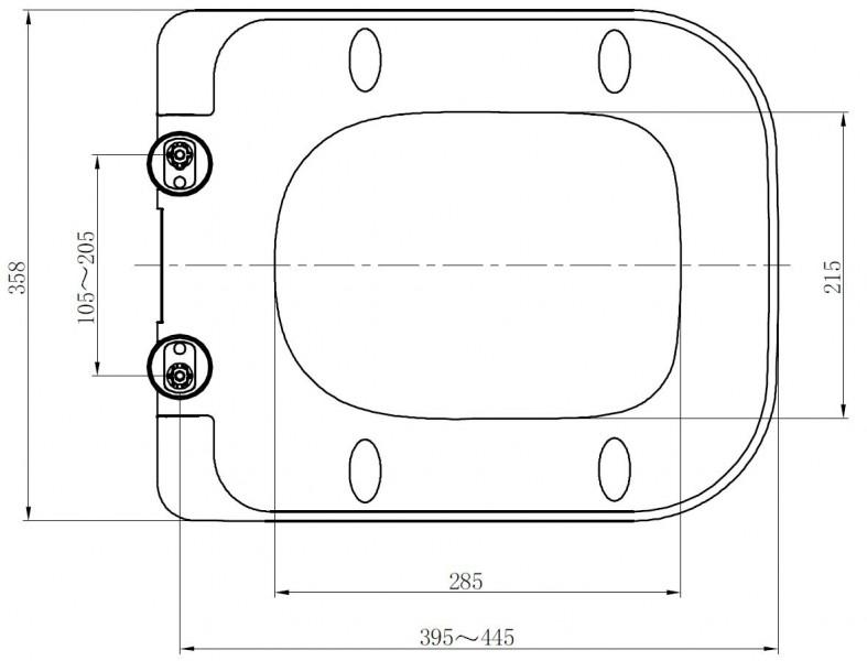 WC Deckel Duroplast WC Sitz Ersatzdeckel für WC CH101 und 101R zoom thumbnail 3