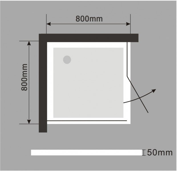 Duschtasse Duschwanne quadratisch Acryl - 80 x 80 cm inkl. Ablaufgarnitur zoom thumbnail 3