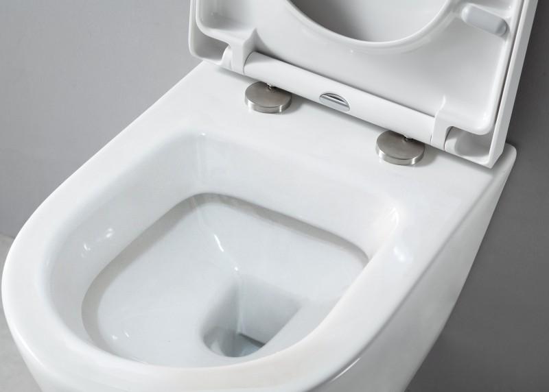 Wand-Hänge-WC B-8030 Weiß - inkl. Softclose-Deckel zoom thumbnail 5