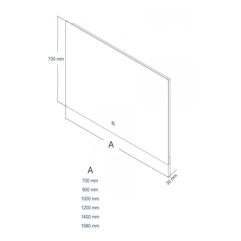 LED Lichtspiegel Badspiegel 2137 - Breite wählbar zoom thumbnail 6