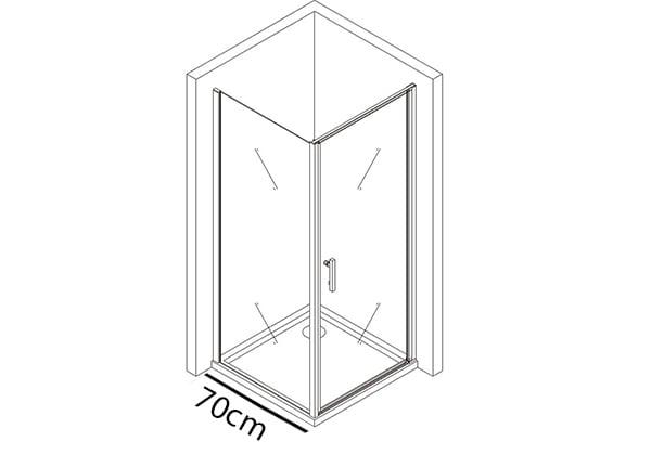Festes Glas 70cm