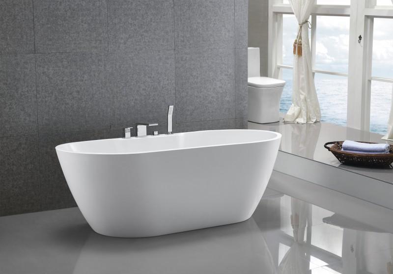Freistehende Badewanne JAZZ PLUS Acryl weiß - 170 x 80 cm  zoom thumbnail 4