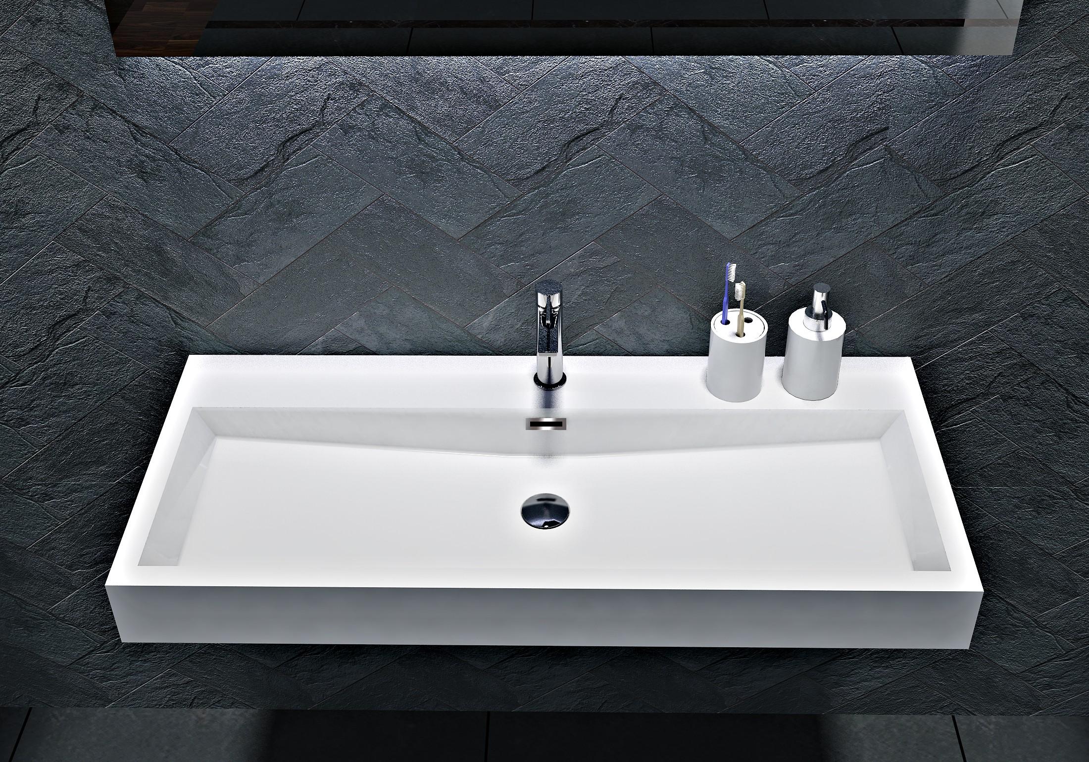Wandwaschbecken Aufsatzwaschbecken BS6002 - Breite 76,5cm / 100cm