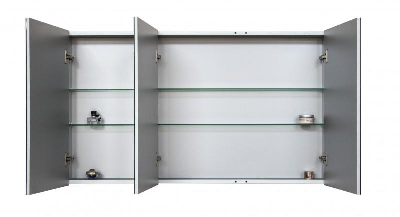 Spiegelschrank Multy BS120 aus Aluminium - Breite 120cm zoom thumbnail 3