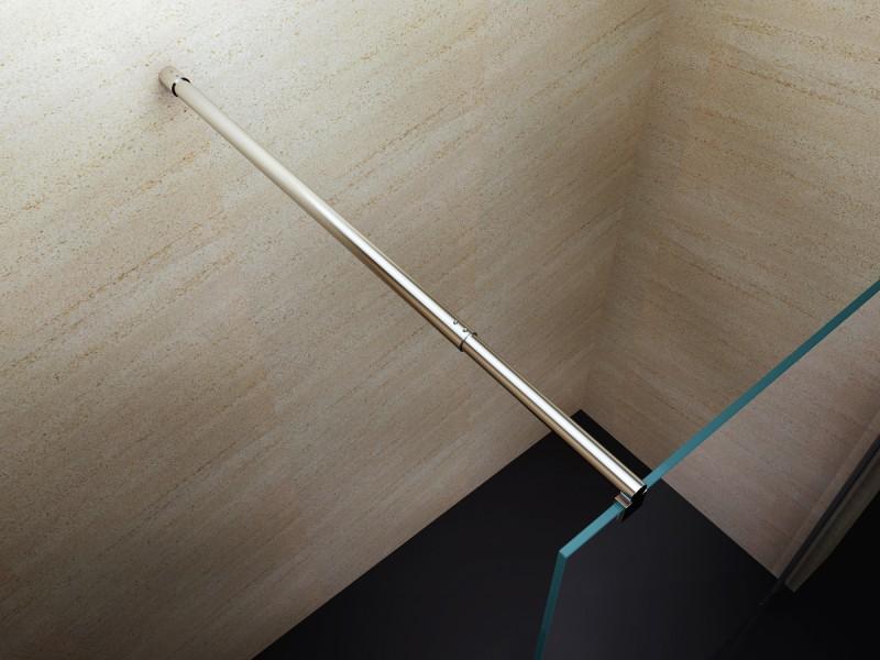 Duschabtrennung Walk-In Dusche EX101 8mm Nano Echtglas - Milchglas-Streifen - Breite wählbar zoom thumbnail 5