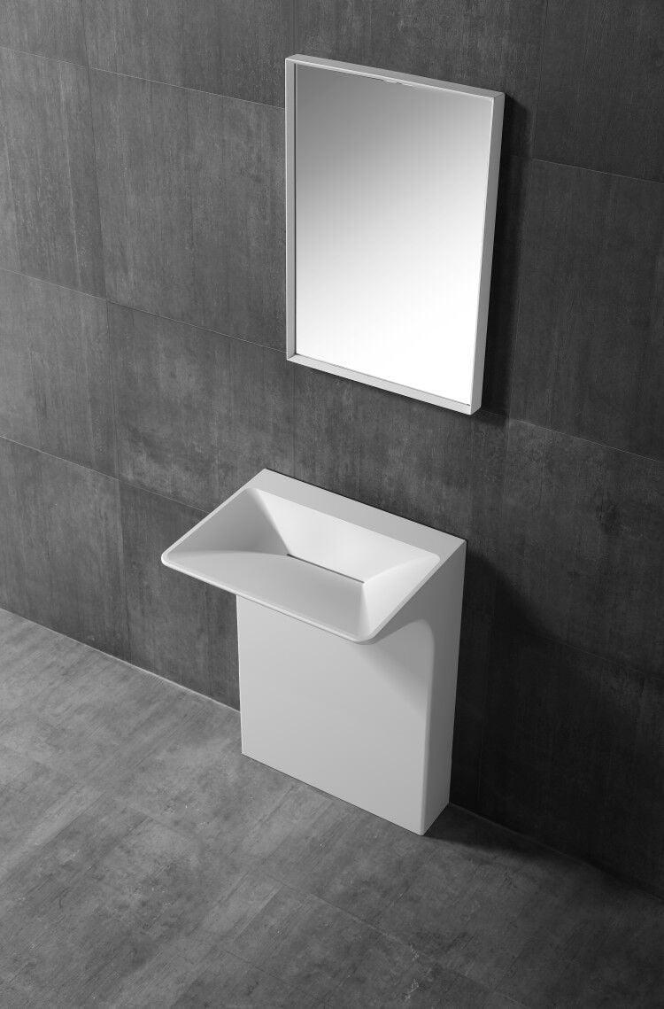 BERNSTEIN Standwaschbecken TWZ29 aus Mineralguss - 60 x 47 x 85 cm