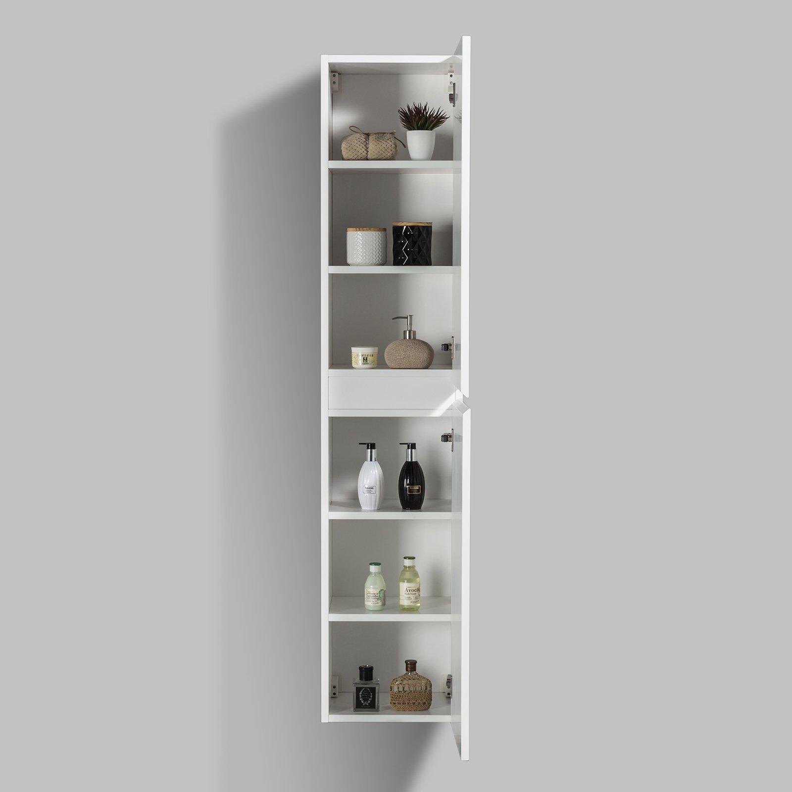 Seitenschrank für Badmöbel Set Luna - verschiedene Farben erhältlich