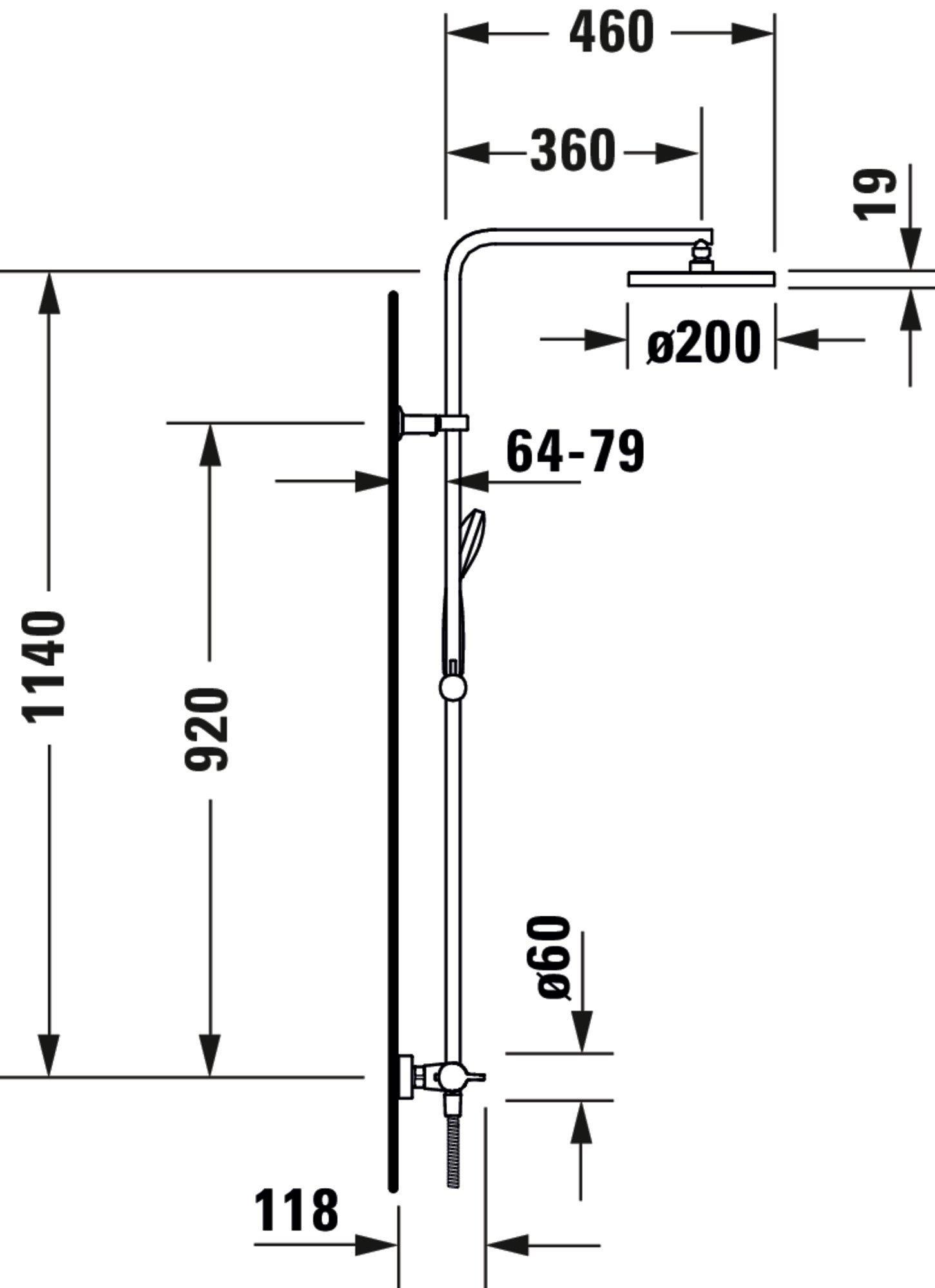 Duravit B.1 Duschsystem Chrom Hochglanz 260 zoom thumbnail 6