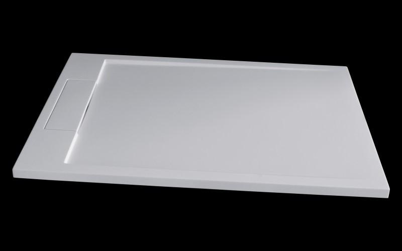 Mineralguss Duschtasse Duschwanne PB3085 - Weiß matt - 120x90x3,5cm