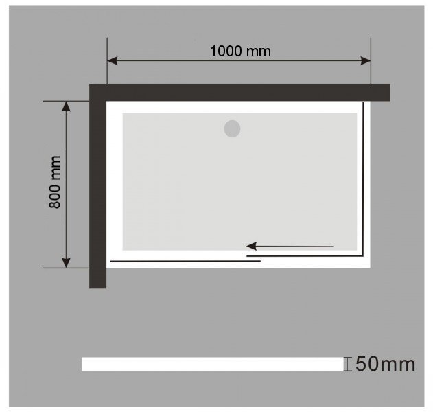 Duschtasse Duschwanne rechteckig - 100x80cm - inkl. Ablaufgarnitur zoom thumbnail 4