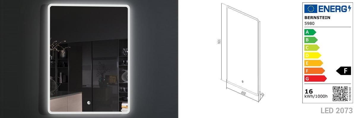 Badmöbelset M600 Eiche geweißt - Badspiegel optional wählbar zoom thumbnail 6