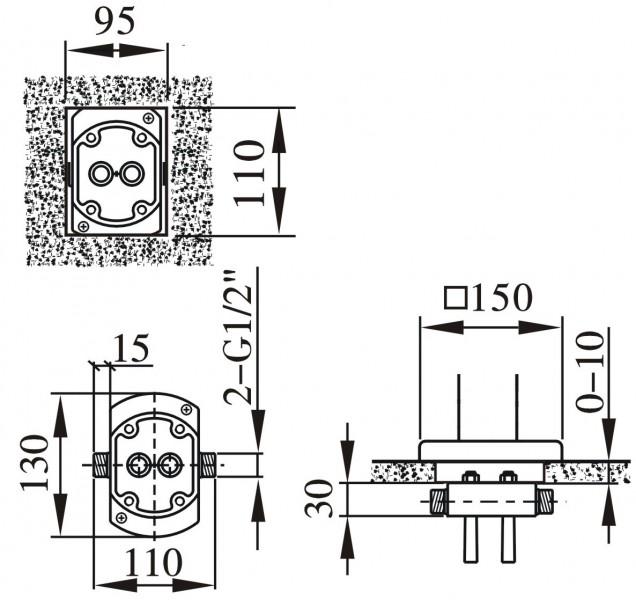 Standarmatur freistehende Wannenarmatur NT3311 inkl. Unterputz-Grundkörper zoom thumbnail 4