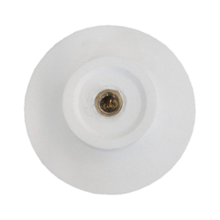 Waschbecken Pop-up Blende aus Mineralguss für Ablaufgarnitur - Farbe Weiß Glänzend