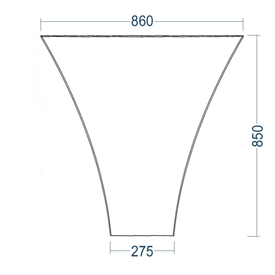 Standwaschbecken TWZ10 aus Mineralguss (Solid Stone) - 86x36x85cm zoom thumbnail 4