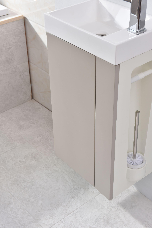 Badmöbel-Set Compact 400 für Gäste-WC - Taupe hell matt zoom thumbnail 4