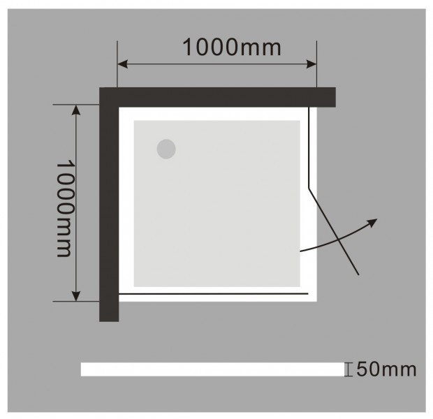 Duschtasse Duschwanne quadratisch - 100 x 100 cm inkl. Ablaufgarnitur zoom thumbnail 3