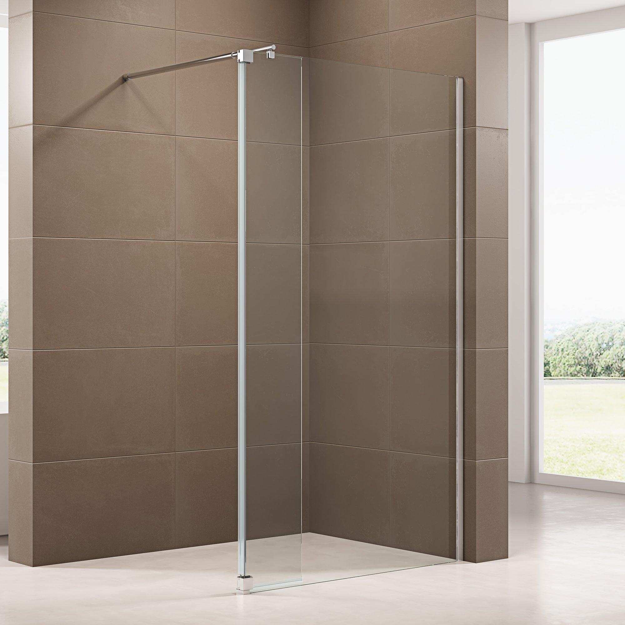 Duschabtrennung Walk-In-Dusche mit Spritzschutz NT109 8mm ESG-Glas  zoom thumbnail 3