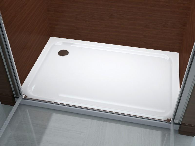 Duschkabine Duschabtrennung Nischentür Nano Echtglas EX218 - 195 cm Höhe - Breite wählbar zoom thumbnail 6