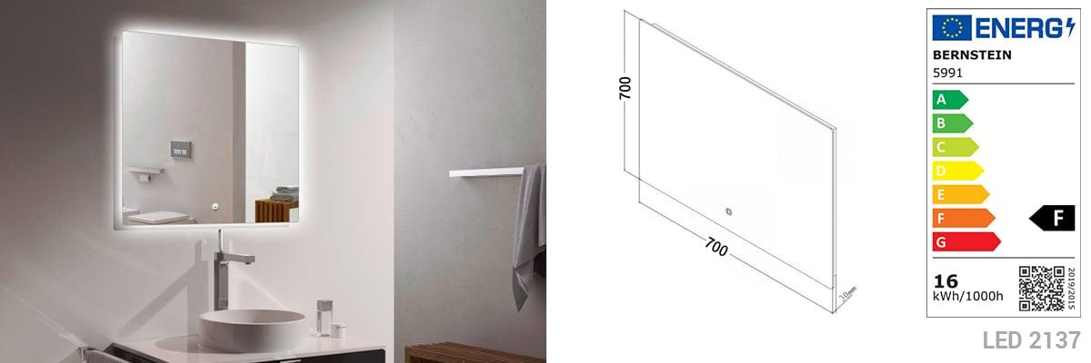 Badmöbel Vision 700 Weiß matt - Spiegel und Aufsatzwaschbecken optional zoom thumbnail 5
