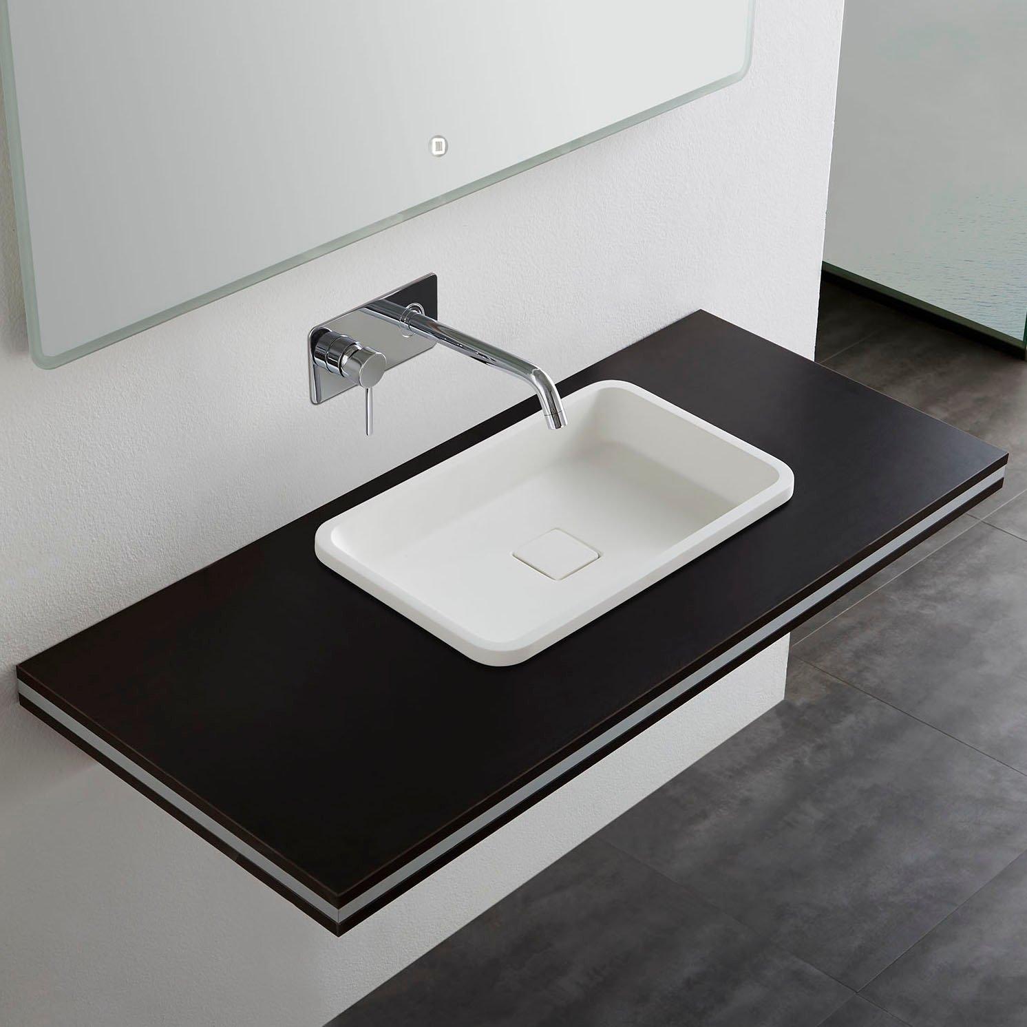 Mineralguss Einbaubecken Einbau-Waschbecken PB2129 - 53x32x10,5cm - Pure Acrylic