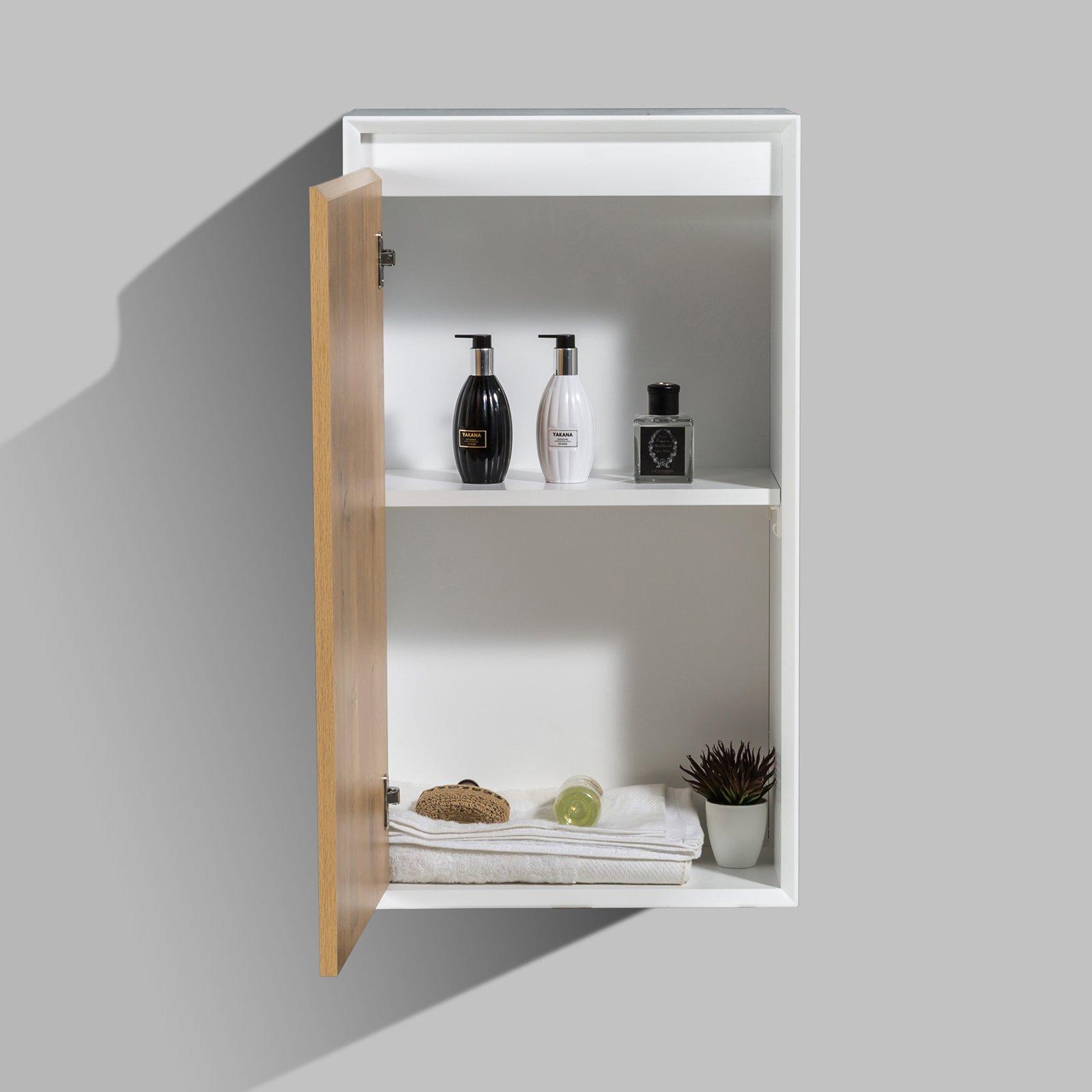 Seitenschrank Fiona - passend zum Badmöbel-Set - Beton-Optik / Eiche-Optik zoom thumbnail 3