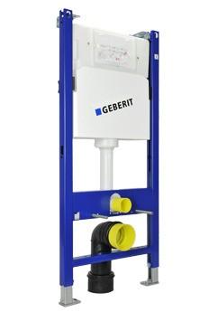 Geberit DUOFIX BASIC 112 cm, SPK UP100 + DELTA 21 Weiß + Schallschutzset
