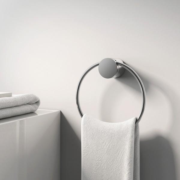 Hochwertiger Handtuchring SDVHR Design rund - Serie VERSA - chrom