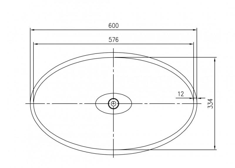 Freistehendes Waschbecken aus Mineralguss WAVE PB2175 weiß - 60 x 37 x 90 cm - Solid Stone  zoom thumbnail 4