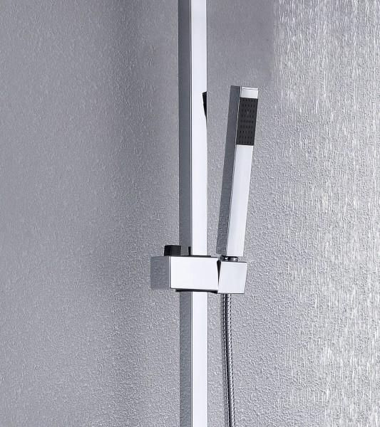 Design-Duschsystem Duschsäule Thermostat 8821C Basic - Auswahl Duschkopf eckig