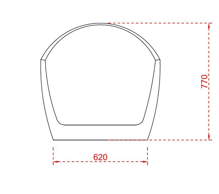 Freistehende Badewanne VICE aus Acryl - 183,5 x 78,5 x 77 cm - Farbe & Standarmatur wählbar zoom thumbnail 6