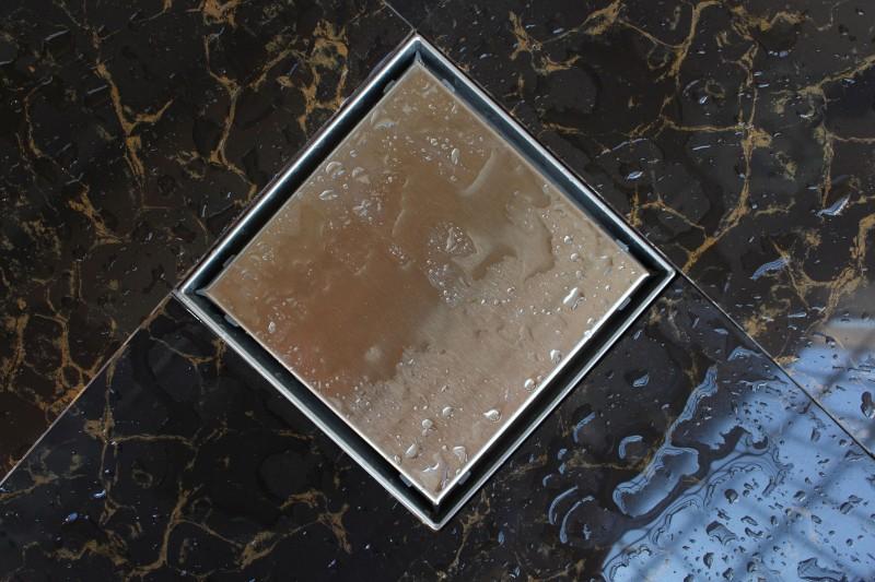 Edelstahl-Duschrinne T02 Bodenablauf für Duschkabine - inkl. Ablaufblende - Größe wählbar zoom thumbnail 3